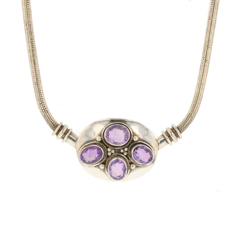 Amethyst Choker necklace - David's Antiques & Jewelry