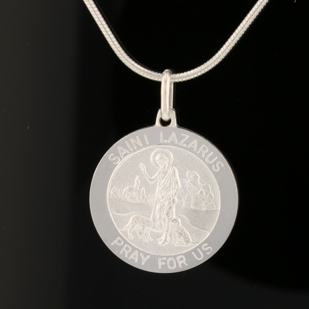 Saint Lazarus - Pray for us Coin Pendant
