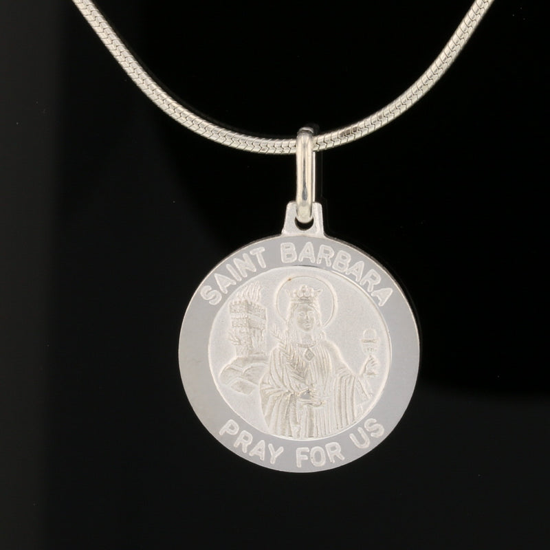 Saint Barbara - Pray for us Coin Pendant