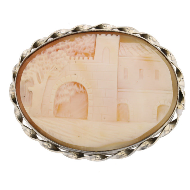 Castle Cameo Brooch - David's Antiques & Jewelry