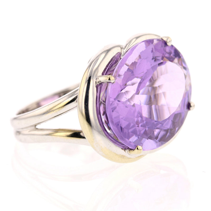 Huge East West Amethyst Ring