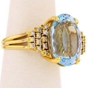Large Aquamarine  Ring