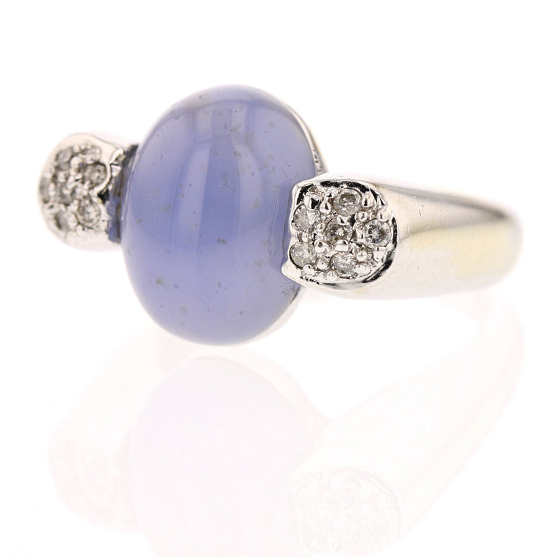 Chalcedony & Diamonds Ring - David's Antiques & Jewelry
