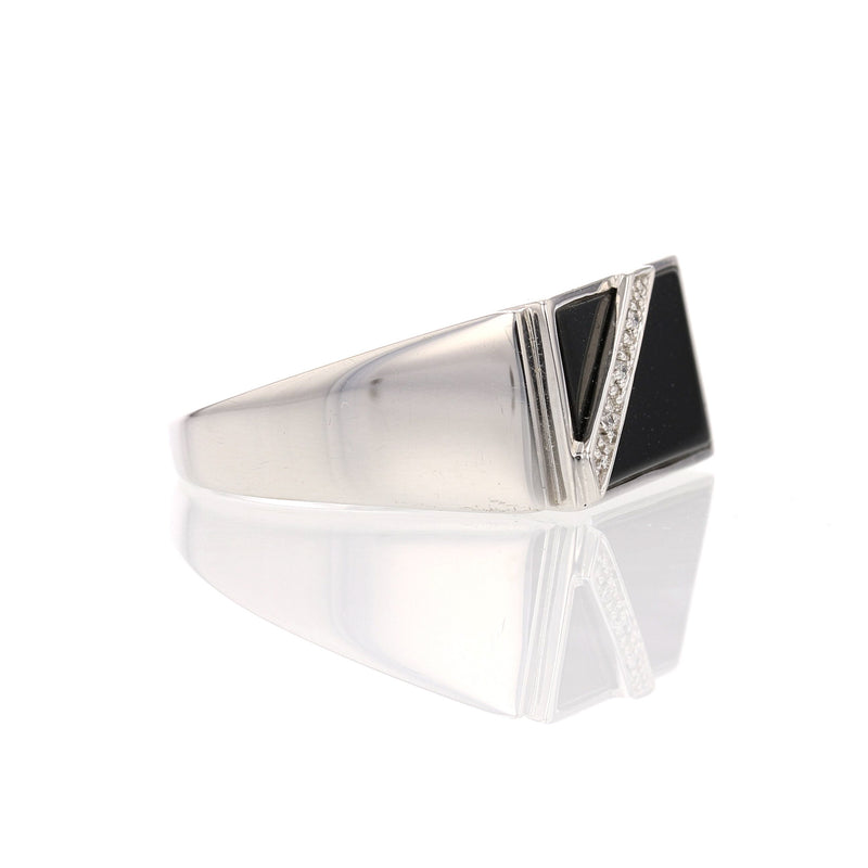 Rectangular Onyx  Ring