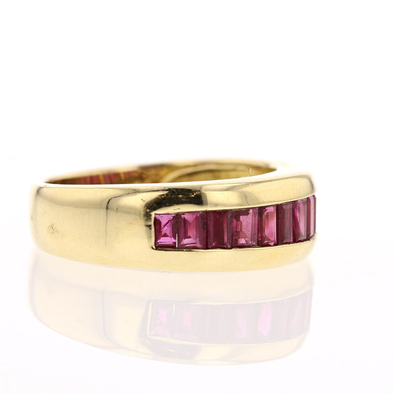 Half Band Ruby Ring