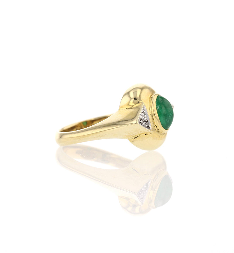 Cabochon Emerald Ring - David's Antiques & Jewelry