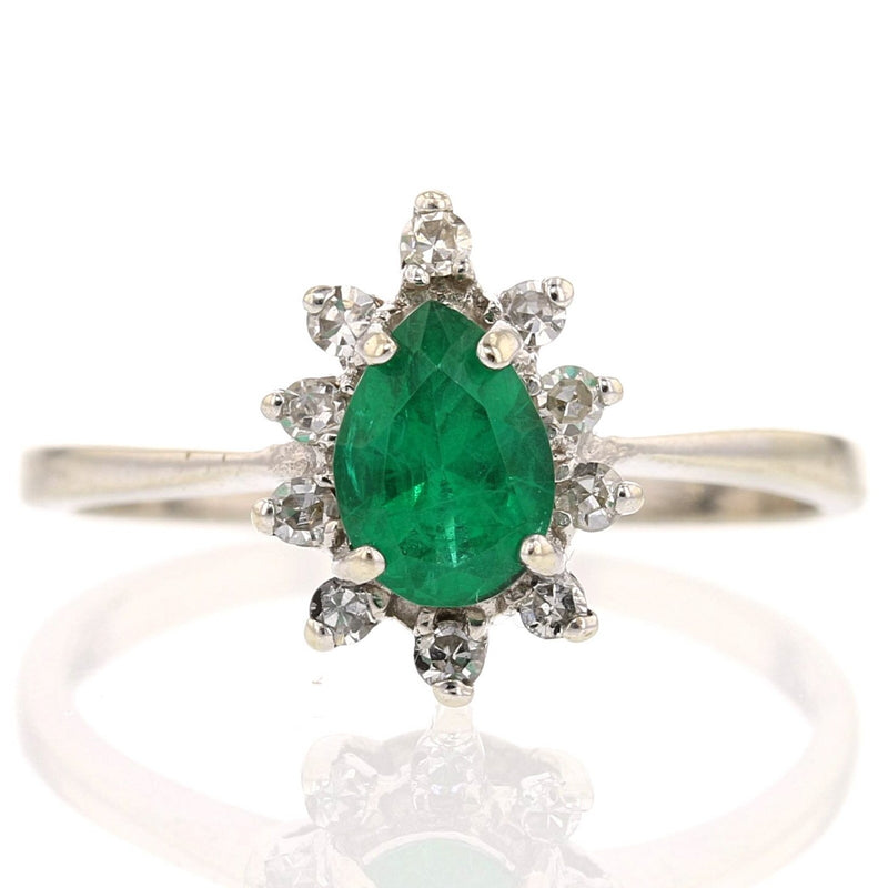 Small Lab Emerald  Ring