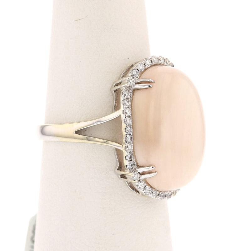 Angel Skin Coral Ring - David's Antiques & Jewelry
