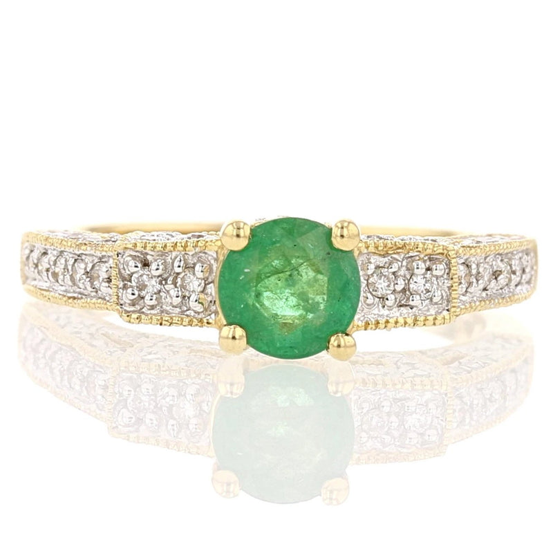 Diamonds & Emerald Ring