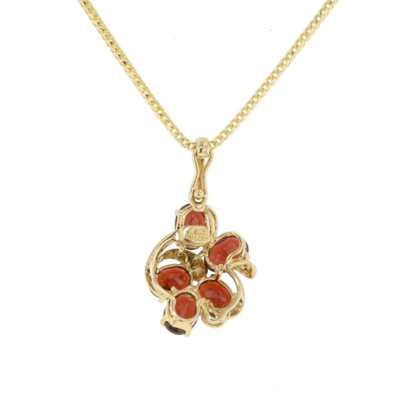 Abstract Flower Garnet - David's Antiques & Jewelry