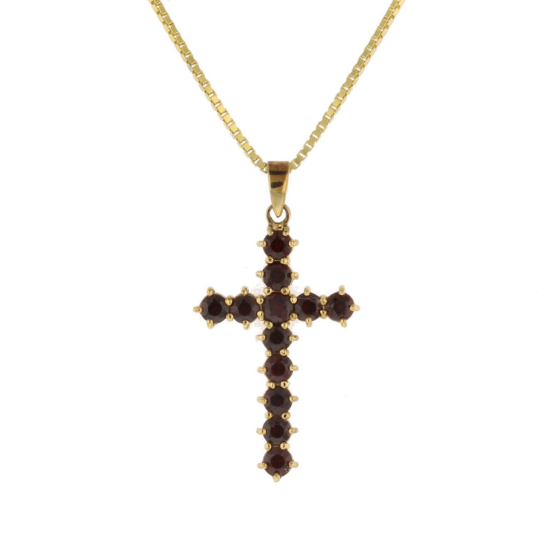 Bohemian Garnet Cross - David's Antiques & Jewelry