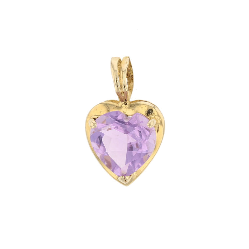 Amethyst Heart Pendant - David's Antiques & Jewelry