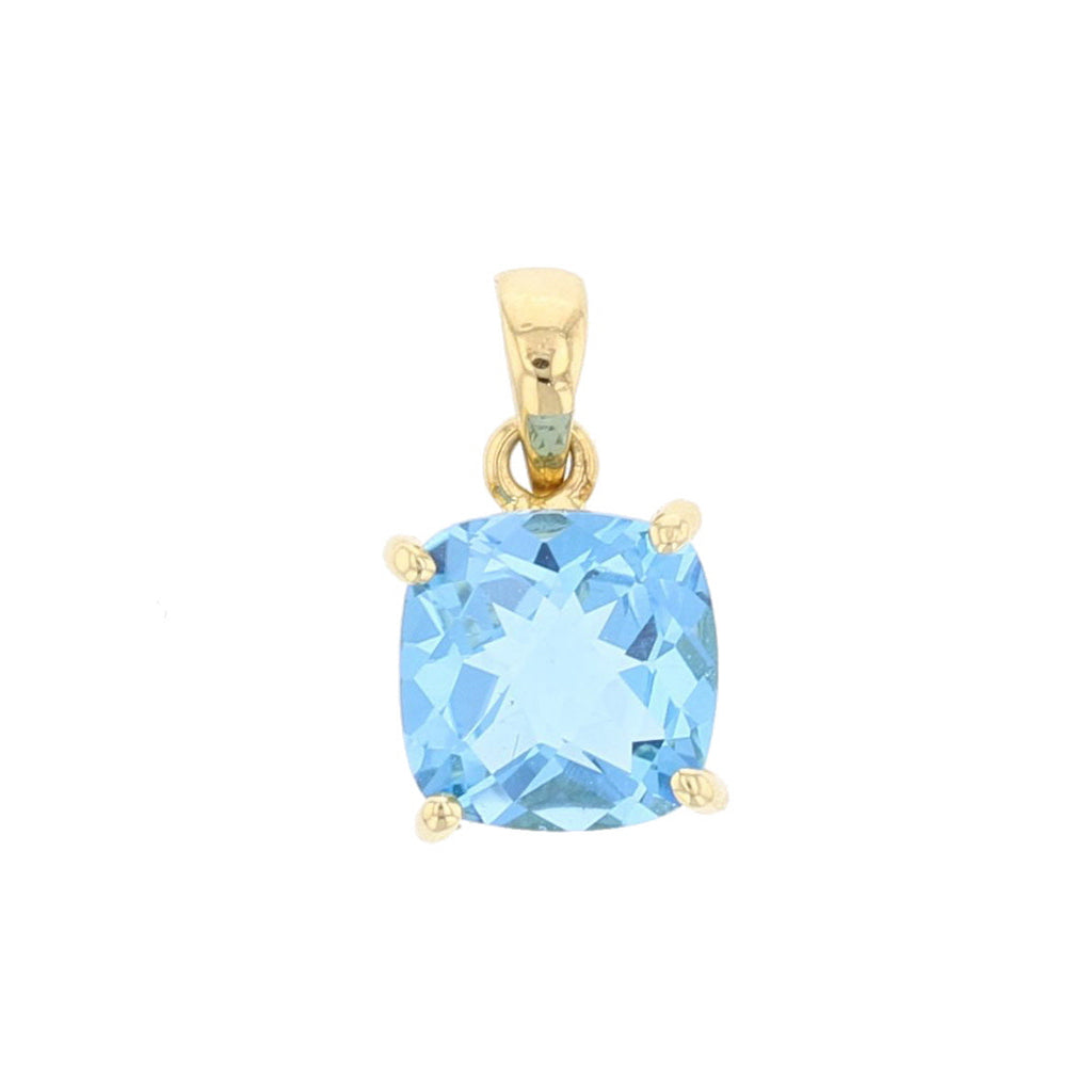 Blue Topaz Pendant - David's Antiques & Jewelry