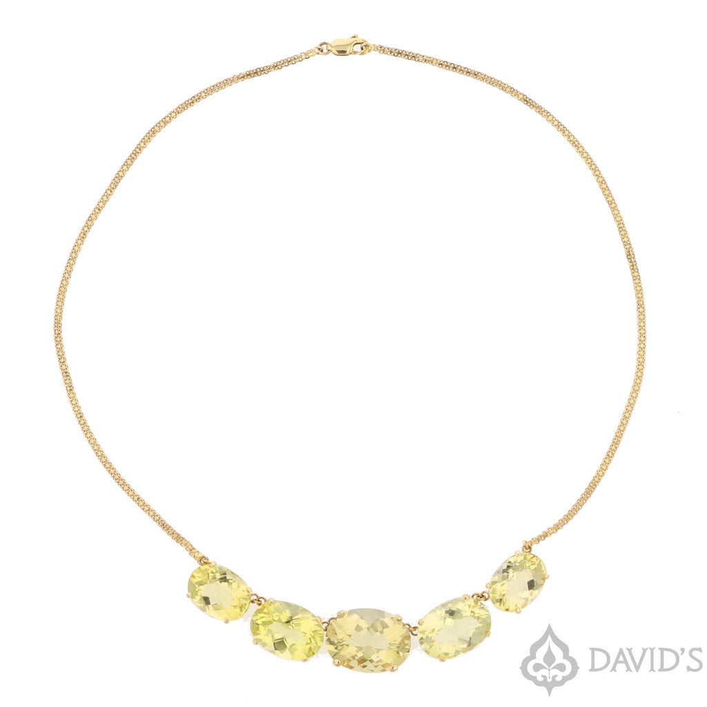 Lemon Citrine Necklace