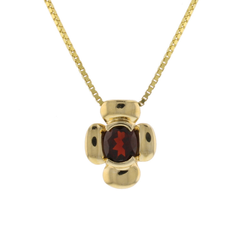 Clover Garnet Pendant - David's Antiques & Jewelry