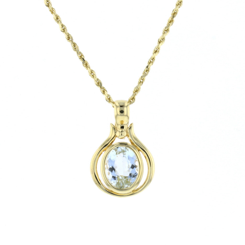 Aquamarine Pendant - David's Antiques & Jewelry