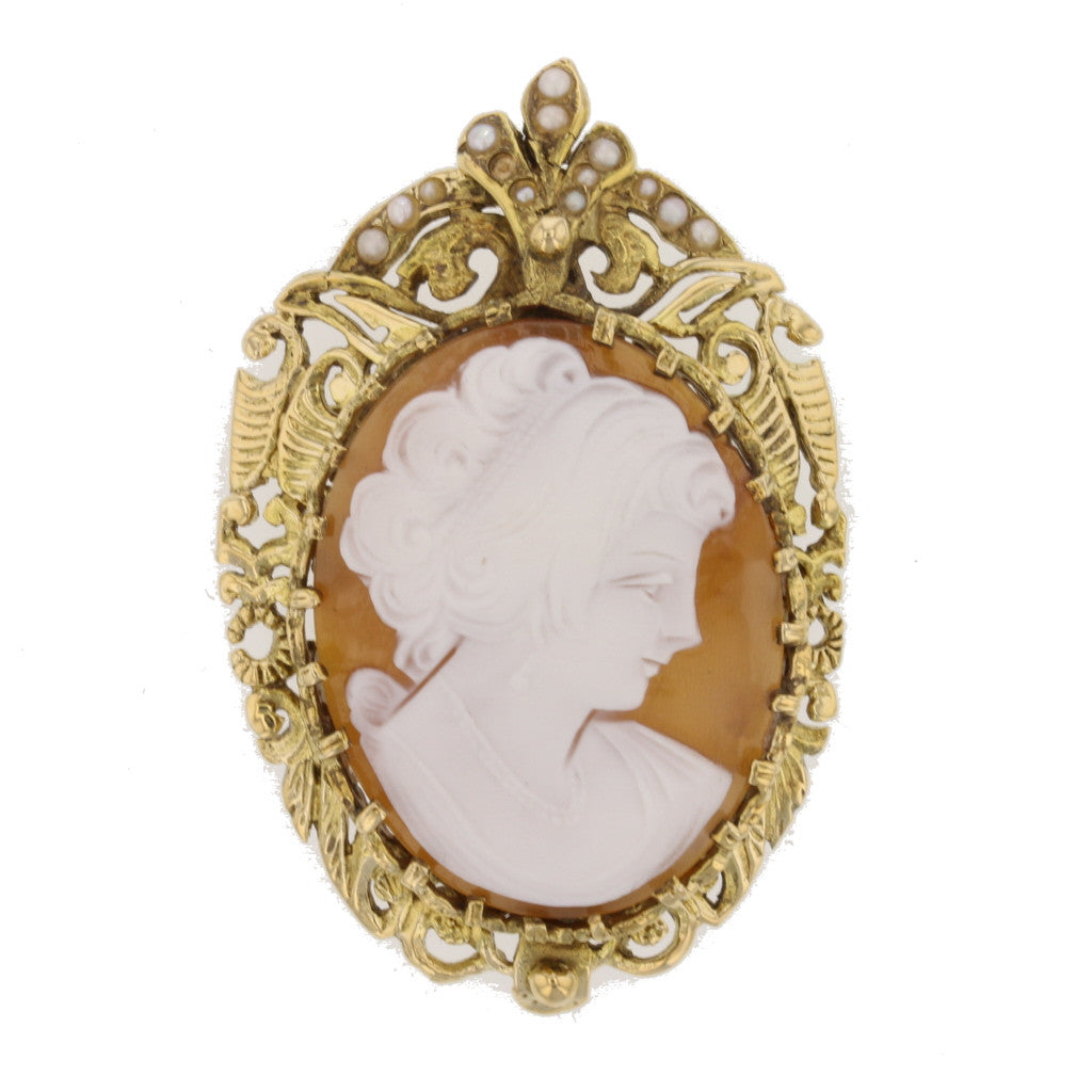 Antique Cameo Brooch - David's Antiques & Jewelry