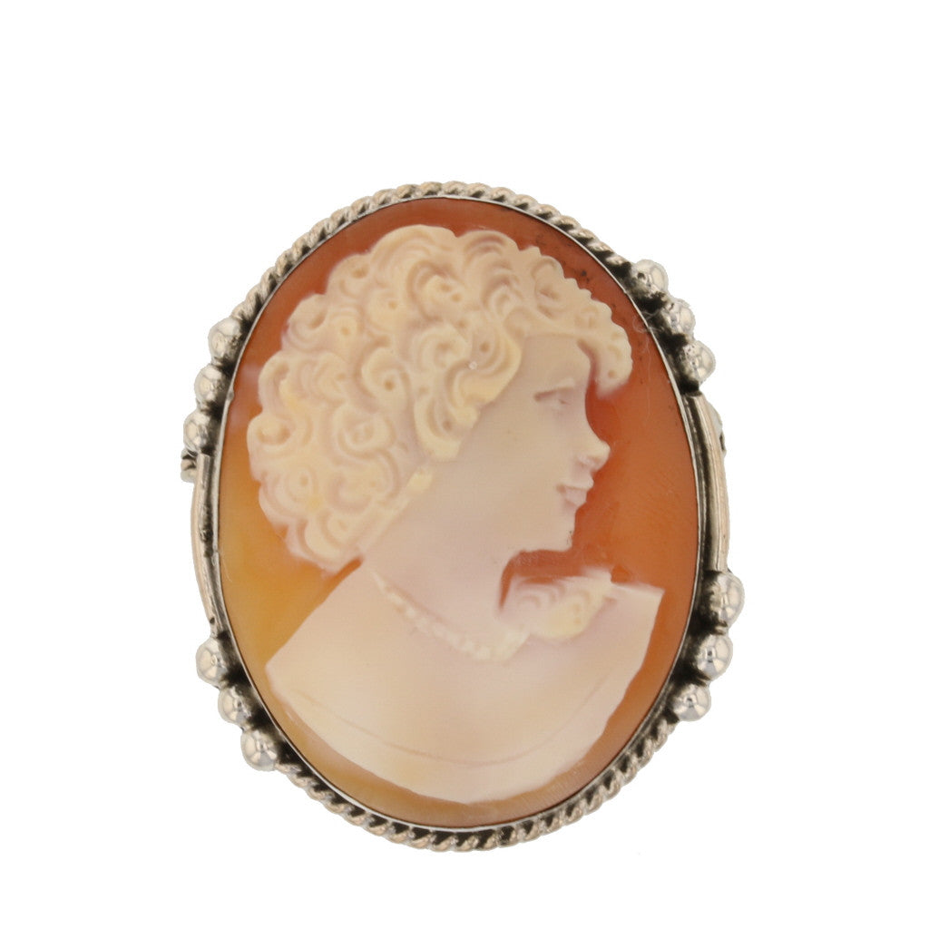 Silver Cameo With Side Work
