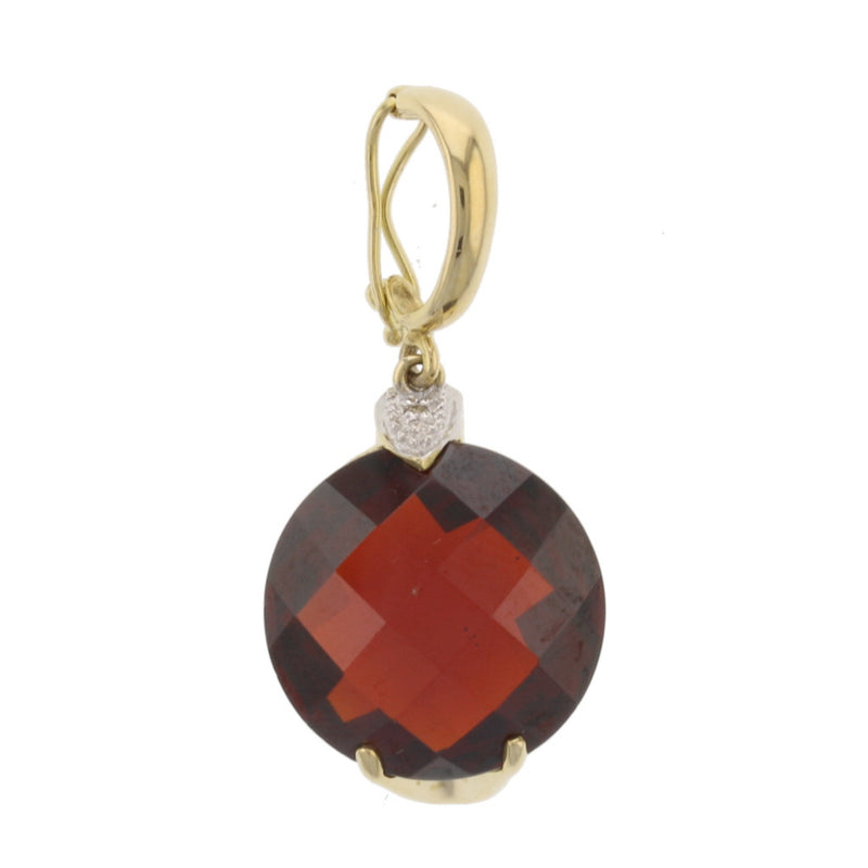 Round Pineapple Cut Garnet