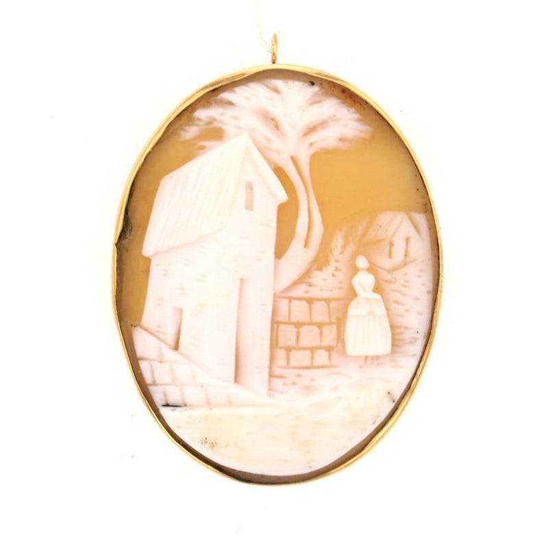 "Victorian ""Rebecca At The Well"" Cameo"