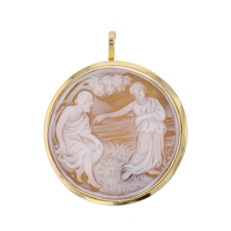 Masterly Carved Scenery Cameo