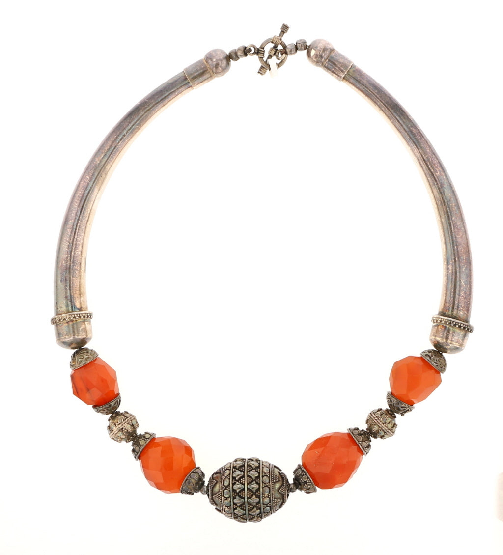 Antique Carnelian & Sterling - David's Antiques & Jewelry