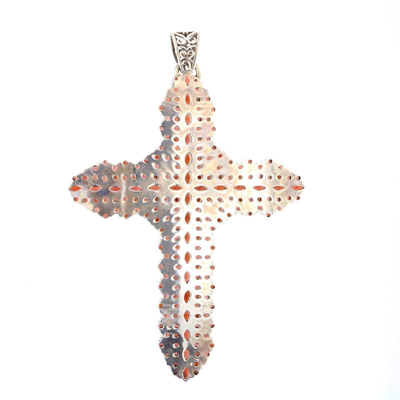 "6"" Garnet Cross Pendant"