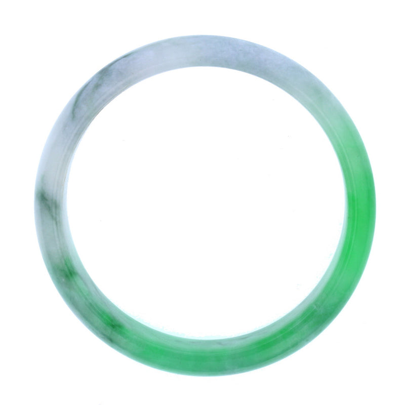 Type A Light Green / Apple Jadite Jade Bangle 62mm 7.3mm Thick