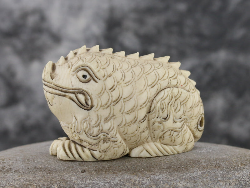 Dragon Frog Netsuke