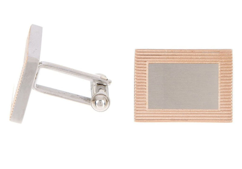 Rose Gold Frame Cuff Links