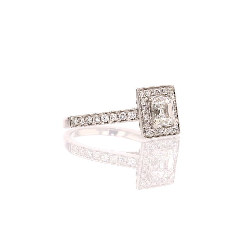 Square Diamond Ring loook