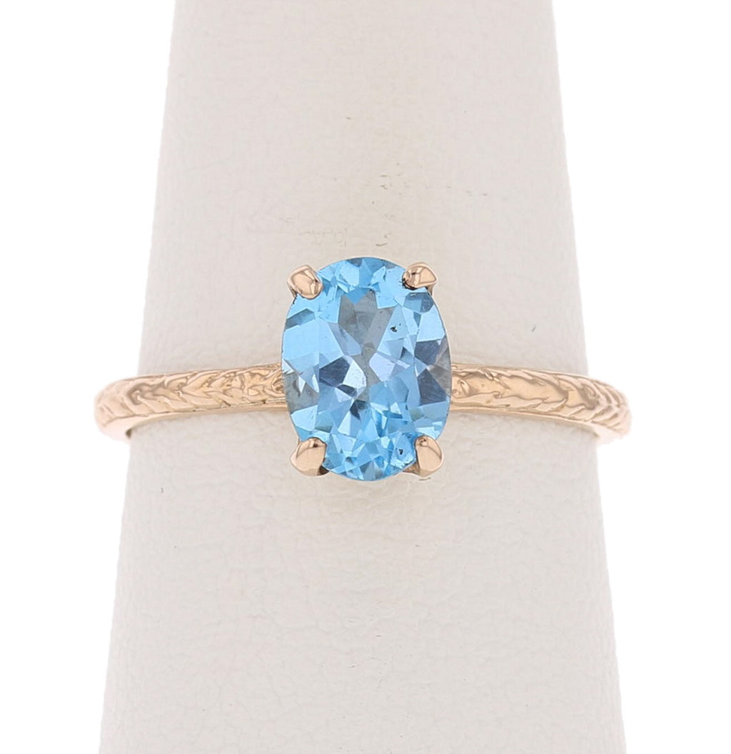 Blue Topaz Ring - David's Antiques & Jewelry