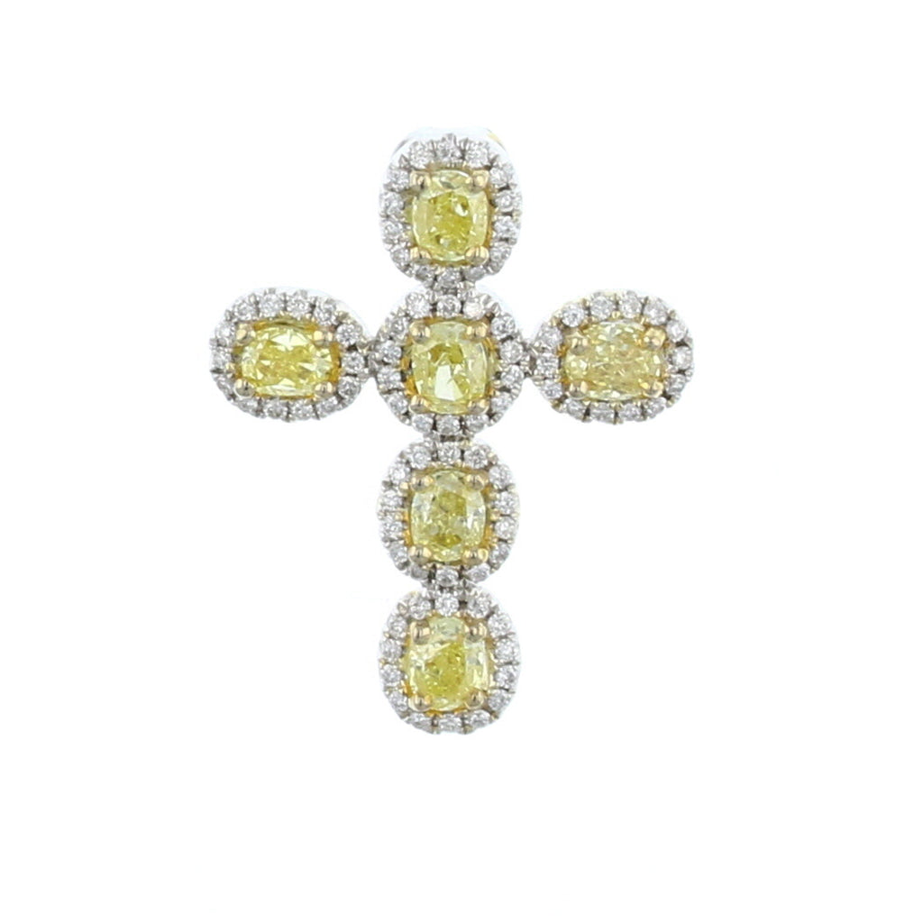 Yellow Diamond Cross Pendant