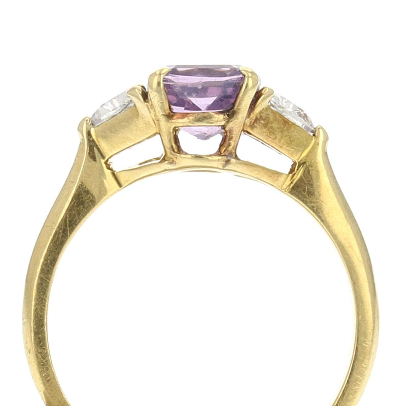 Purple Spinel Ring - GIA