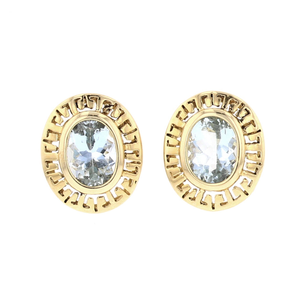 Aquamarine Earrings - David's Antiques & Jewelry