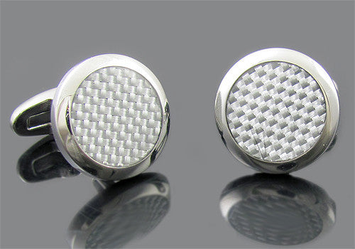 Black or White Round Cuff Links