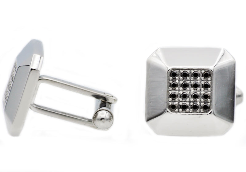 Black CZ Cuff Links