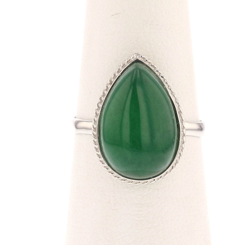 Pear Jade Ring