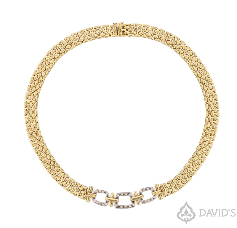 Diamond & Gold Chocker