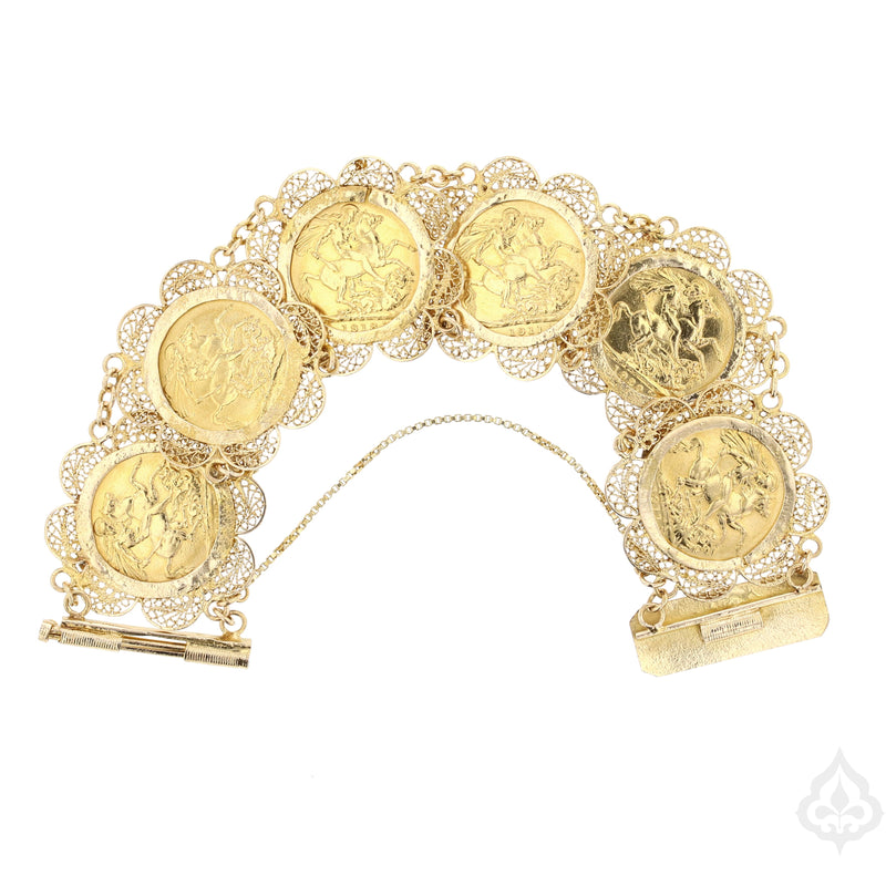 Sovereign Coin Bracelet