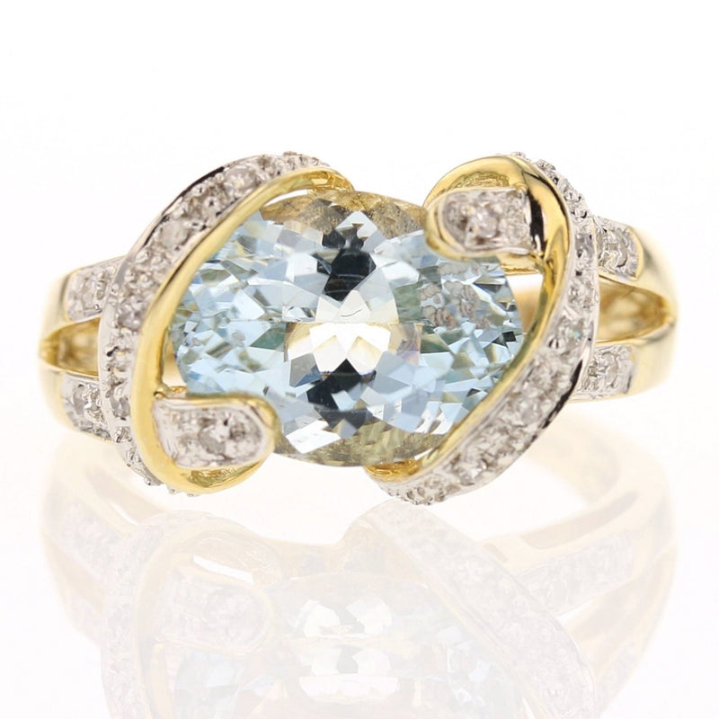 Aquamarine & Diamond Ring - David's Antiques & Jewelry
