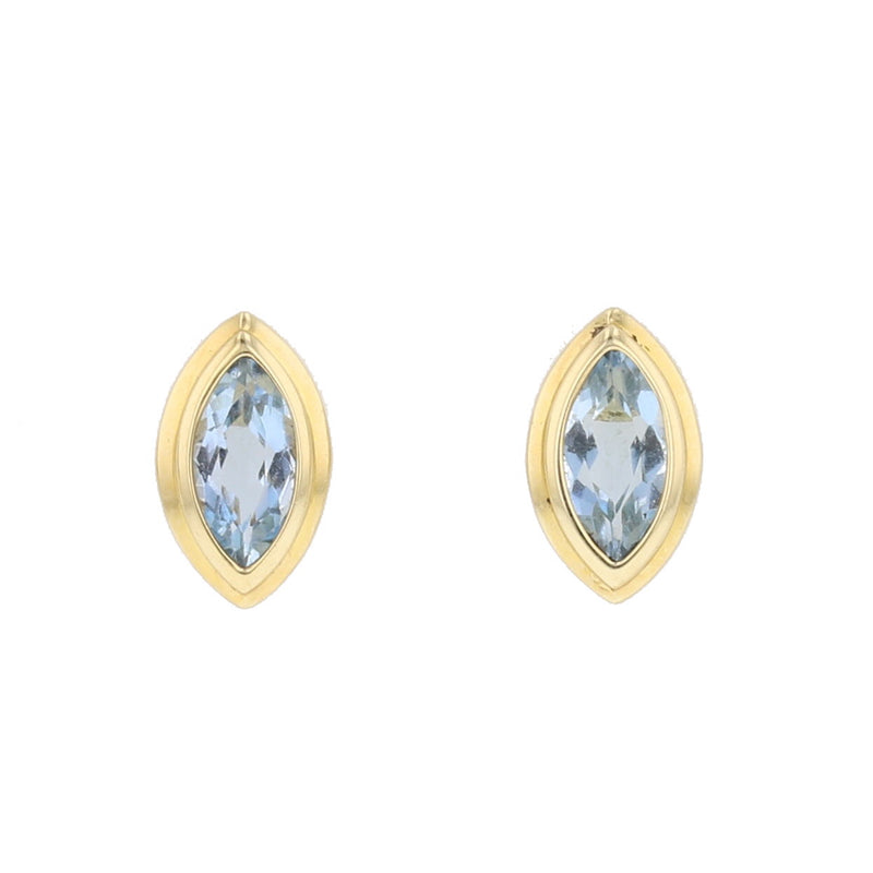 Aquamarine Stud Earrings - David's Antiques & Jewelry