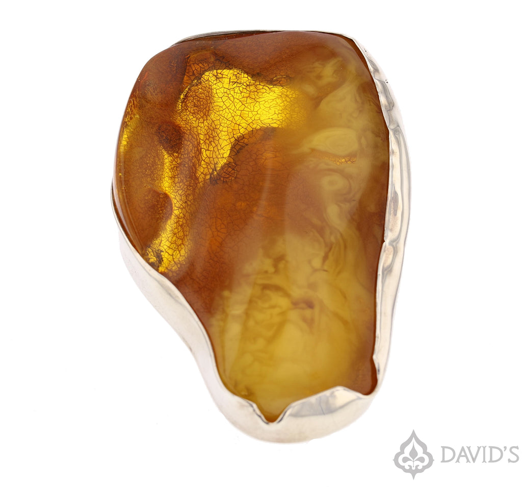 XXL Baltic Amber Ring