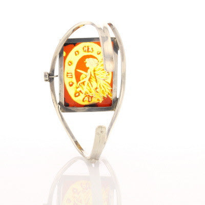Carved Amber Cuff - David's Antiques & Jewelry