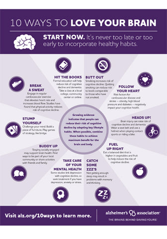 10 ways to love your brain infographic
