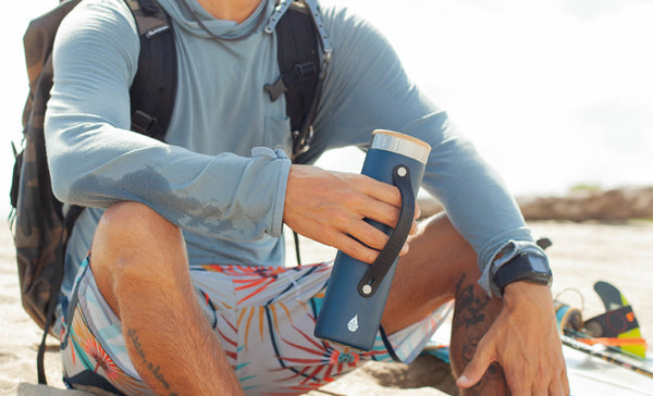 a reusable water bottle is a good way to be sustainable