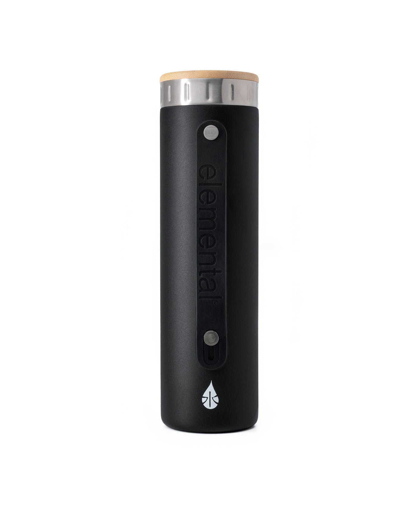 New Elemental Stainless Steel Water Bottle - 20oz Matte Black