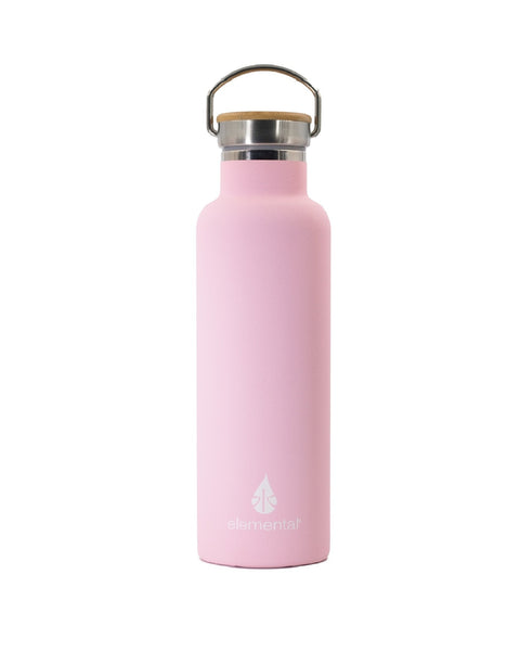 Elemental Stainless Steel Classic Water Bottle - 25oz Matte Blush Pink - Elemental Gifts