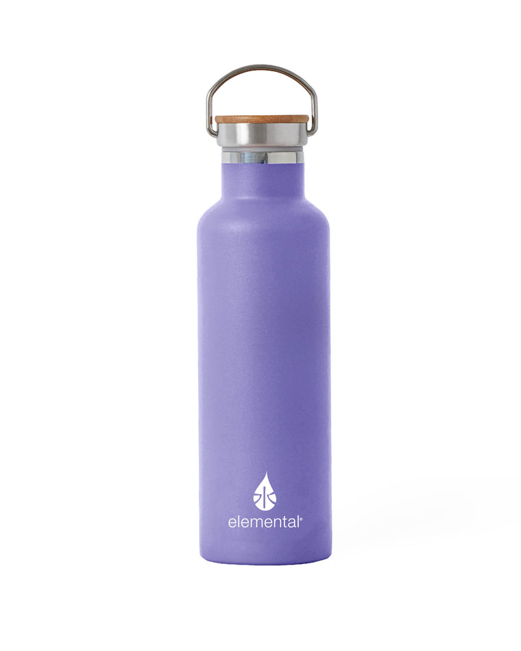 Elemental Stainless Steel Classic Water Bottle - 25oz Lavender