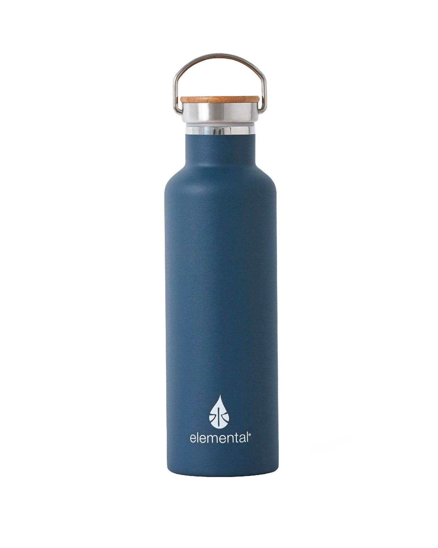 Elemental Stainless Steel Classic Water Bottle - 25oz Navy Blue - Elemental Gifts